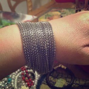 Bracelet 17 strand  Silver color